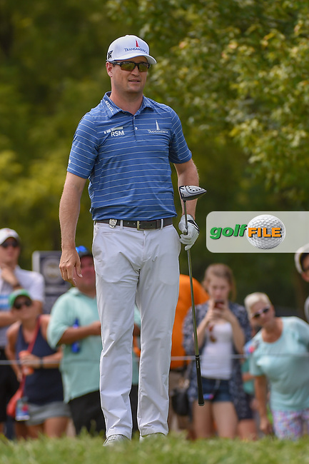 Zach Johnson (USA) watches his tee shot on 12 during 4th round of the 100th PGA Championship at Bellerive Country Club, St. Louis, Missouri. 8/12/2018.<br /> Picture: Golffile | Ken Murray<br /> <br /> All photo usage must carry mandatory copyright credit (© Golffile | Ken Murray)