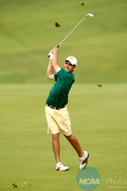 16 MAY 2008:  Sam Dasilva of Skidmore College hits an approach shot during the Division III Men's Golf Championship held at the Chateau Elan Resort in Braselton, GA.  Dasilva tied for 28th place with a +19 score.  Jamie Schwaberow/NCAA Photos