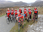 13-04-2014: Blood, Sweat & Gears  Garda Blood4Life 2014 Cycle: Over five  days from May 12 to May 16, a group of around 20 Garda will undertake a gruelling  1,000 kilometre cycle that will bring them to each one of the 26 counties. The Garda Blood4Life 2014 Cycle is a novel charity event to recruit blood donors and to raise awareness about the importance  of blood donation.  Details of the event were  announced on Sunday to coincide  with a training cycle on the Ring of Kerry over  the weekend. From left are Cork gardai Mark O'Connor, Paul Hooley, Pat Harrington, Peter Kennedy, Stephen Roe, Paschal Sheehy (RTE), Donal Bernie and Don Healy.  Picture: Eamonn Keogh (MacMonagle, Killarney)    NO  REPRO FREE PR PHOTO