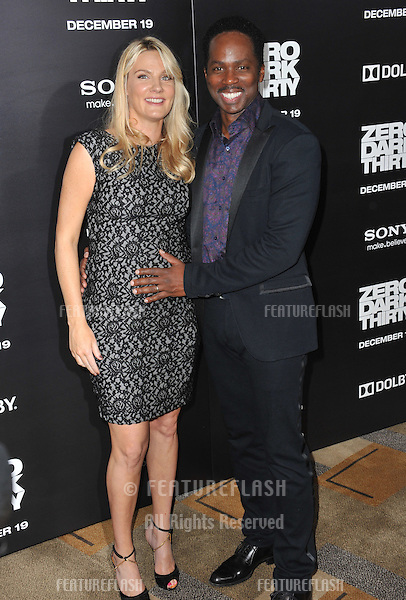 "Harold Perrineau & wife at the premiere of his movie ""Zero Dark Thirty"" at the Dolby Theatre, Hollywood..December 10, 2012  Los Angeles, CA.Picture: Paul Smith / Featureflash"