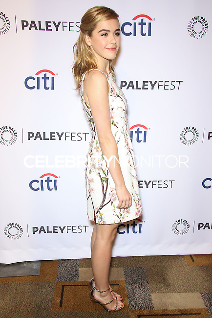 """HOLLYWOOD, LOS ANGELES, CA, USA - MARCH 21: Kiernan Shipka at the 2014 PaleyFest - """"Mad Men"""" held at Dolby Theatre on March 21, 2014 in Hollywood, Los Angeles, California, United States. (Photo by Celebrity Monitor)"""