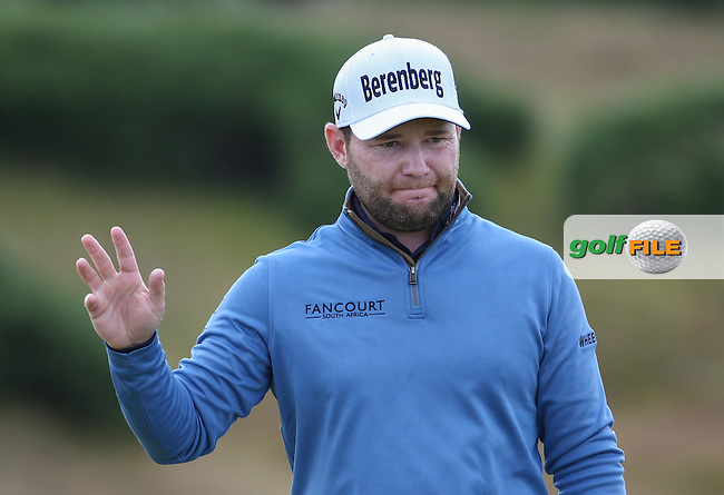 Branden Grace (RSA) moves into T2 with a 65 during Round Two of the 2016 Aberdeen Asset Management Scottish Open, played at Castle Stuart Golf Club, Inverness, Scotland. 08/07/2016. Picture: David Lloyd | Golffile.<br /> <br /> All photos usage must carry mandatory copyright credit (&copy; Golffile | David Lloyd)