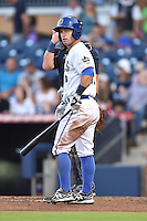 Durham Bulls second baseman Jayson Nix  #16 during a game against the Toledo Mud Hens at Durham Bulls Athletic Park on July 25, 2014 in Durham, North Carolina. The Mud Hens defeated the Bulls 5-3. (Tony Farlow/Four Seam Images)