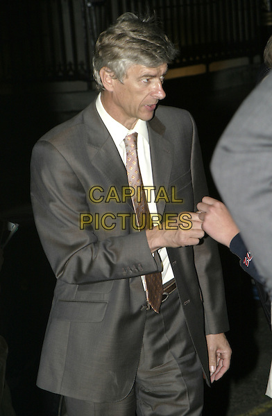 ARSENE WENGER.Attends the Sport Against Addiction & FIFA 100 Party, Royal Academy of Arts, London, .1st September 2004..half length.Ref: AH.www.capitalpictures.com.sales@capitalpictures.com.©Capital Pictures.