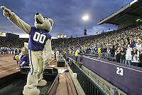 Dec 05, 2009:  Washington mascot Harry pumps up the crowed during the game against California.  Washington defeated California 42-10 at Husky Stadium in Seattle, Washington..