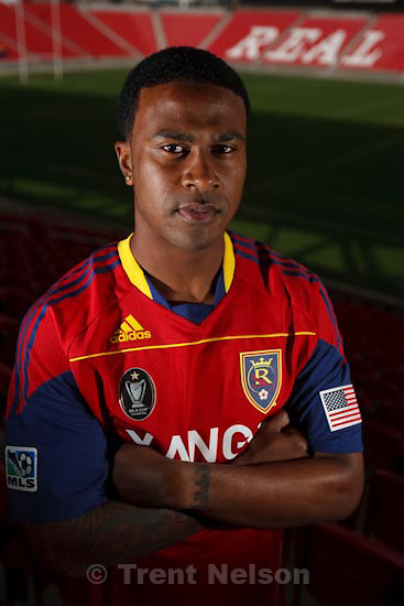 Trent Nelson  |  The Salt Lake Tribune.Sandy - A center piece about RSL striker Robbie Findley. Is this his breakout year into stardom in the soccer world, Tuesday, March 23, 2010.