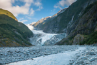 Terminus of Franz Josef Glacier and Waiho River, Westland Tai Poutini National Park, West Coast, World Heritage Area, New Zealand