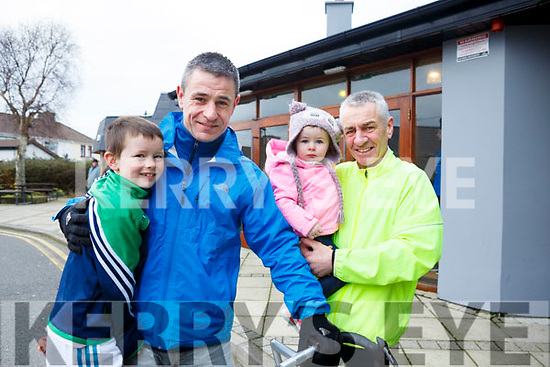 Shane and Pat Griffin, Evie Cullothy and Steven Griffin     attending the Kerins O'Rahilly's 10k Run/Walk in honour of local running legendJohn Griffin on Sunday morning last.