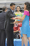 November 18 2011 - Guadalajara, Mexico:  Minister of Sport Bal Gossal hands out the Bronze Medals to Team Canda at the 2011 Parapan American Games in Guadalajara, Mexico.  Photos: Matthew Murnaghan/Canadian Paralympic Committee