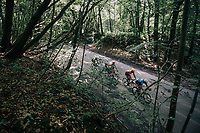 race leaders through the forest<br /> <br /> 97th Brussels Cycling Classic (1.HC)<br /> 1 Day Race: Brussels &gt; Brussels (201km)