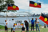 Aboriginal Land Rights Protest on Bicentennial Day, Sydney, Australia