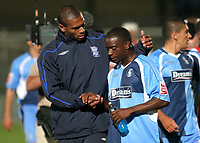 Marcus Bent of Birmingham consoles Nathan Ashton of Wycombe Wanderers at the end of the match during Wycombe Wanderers vs Birmingham City, Carling Cup Football at Adams Park on 13th August 2008