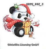 Theresa, CHRISTMAS ANIMALS, WEIHNACHTEN TIERE, NAVIDAD ANIMALES, paintings+++++,GBTG882/3,#xa# ,sticker,stickers ,panda,pandas