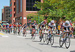 August 10, 2017 - Colorado Springs, Colorado, U.S. -  The men's peloton enjoys sunny skies prior to the onset of heavy rain storms during the inaugural Colorado Classic cycling race, Colorado Springs, Colorado.