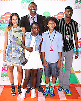 WESTWOOD, LOS ANGELES, CA, USA - JULY 17: Metta World Peace, Ron Artest at the Nickelodeon Kids' Choice Sports Awards 2014 held at UCLA's Pauley Pavilion on July 17, 2014 in Westwood, Los Angeles, California, United States. (Photo by Xavier Collin/Celebrity Monitor)