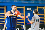Marc Gasol (l) and Ricky Rubio during the training of Spanish National Team of Basketball in Madrid previous to World Cup in China . August 21, 2019. (ALTERPHOTOS/Francis González)