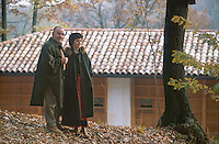 Josko with his wife Loredana outside their Kozolec inspired house in the woodlands near the village of Cormons in North East Italy