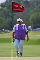 Laura Davies (ENG) looks over her putt on 4 during round 1 of the 2019 US Women's Open, Charleston Country Club, Charleston, South Carolina,  USA. 5/30/2019.<br /> Picture: Golffile | Ken Murray<br /> <br /> All photo usage must carry mandatory copyright credit (© Golffile | Ken Murray)