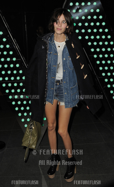 Alexa Chung arrives for the W Hotel opening on Wardour Street, London. 16/03/2011 Picture by: Simon Burchell / Featureflash
