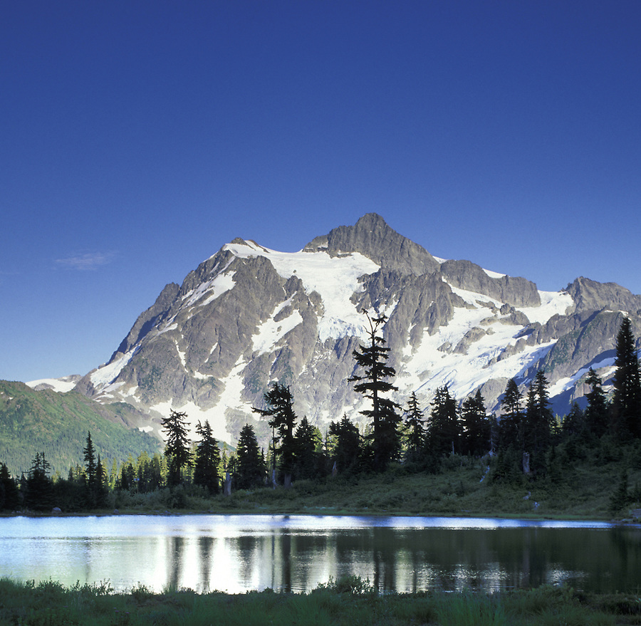 Mount Shuksan and Picture Lake, Mt Baker National Recreation Area, Washington