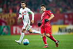 Shanghai FC Forward Elkeson De Oliveira Cardoso (R) in action during the AFC Champions League 2017 Group F match between Shanghai SIPG FC (CHN) vs Western Sydney Wanderers (AUS) at the Shanghai Stadium on 28 February 2017 in Shanghai, China. Photo by Marcio Rodrigo Machado / Power Sport Images