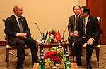Palestinian Prime Minister Rami Hamdallah meets with Vietnam's President Truong Tan Sang during the Asian African Conference in Jakarta April 23, 2015. The 60th Asian-African Conference is held in Jakarta and Bandung from 19 to 24 April 2015. Photo by Prime Minister Office