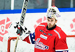 Huddinge 2015-09-20 Ishockey Division 1 Huddinge Hockey - S&ouml;dert&auml;lje SK :  <br /> Huddinges  m&aring;lvakt Tim Sandberg under matchen mellan Huddinge Hockey och S&ouml;dert&auml;lje SK <br /> (Foto: Kenta J&ouml;nsson) Nyckelord:  Ishockey Hockey Division 1 Hockeyettan Bj&ouml;rk&auml;ngshallen Huddinge S&ouml;dert&auml;lje SK SSK portr&auml;tt portrait