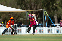 24th November 2019; Lilac Hill Park, Perth, Western Australia, Australia; Womens Big Bash League Cricket, Perth Scorchers versus Sydney Sixers; Erin Burns of the Sydney Sixers hits down the ground during her innings - Editorial Use