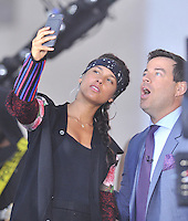 New York,NY-September 2: Alicia Keys ,  performs On NBC's 'Today' at RockefellerCarson Daly Plaza on September 2, 2016 in New York City. @John Palmer / Media Punch