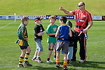 Dillon Crisp & other children gets instructions fron Steeler Kevin Farrell. Counties Manukau Hero's Day at Growers Stadium, Pukekohe, September 6th 2008.