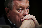U.S. Senator Dick Durbin (D-IL) listens to opening statements during a Senate Judiciary Committee confirmation hearing with professor Christine Blasey Ford, who has accused U.S. Supreme Court nominee Brett Kavanaugh of a sexual assault in 1982, on Capitol Hill in Washington, U.S., September 27, 2018. REUTERS/Jim Bourg