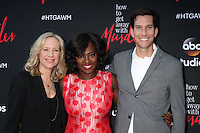 Betsy Beers, Viola Davis, Peter Nowalk at the &quot;How To Get Away With Murder&quot; ATAS FYC Event, Sunset Gower Studios, Los Angeles, CA 05-28-15<br /> <br /> David Edwards/Newsflash Pictures 818-249-4998