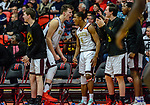 WEST HARTFORD, CT. 15 March 2018-031518BS16 - Connor Tierney (0) and Andre Anderson (4) from Sacred Heart react along the bench after taking the lead in the Div I semi-finals between Sacred Heart vs Windsor at University of Hartford on Thursday evening. Sacred Heart won in a thriller 59-58 over Windsor and advances to the finals at Mohegan Sun. Bill Shettle Republican-American