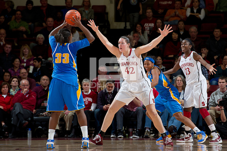 STANFORD, CA - January 20, 2011: Stanford Cardinal's Sarah Boothe during Stanford's 64-38 victory over UCLA at Maples Pavilion in Stanford, California.