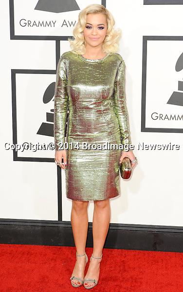 Pictured: Rita Ora<br /> Mandatory Credit &copy; Adhemar Sburlati/Broadimage<br /> The Grammy Awards  2014 - Arrivals<br /> <br /> 1/26/14, Los Angeles, California, United States of America<br /> <br /> Broadimage Newswire<br /> Los Angeles 1+  (310) 301-1027<br /> New York      1+  (646) 827-9134<br /> sales@broadimage.com<br /> http://www.broadimage.com