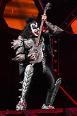 "SUNRISE FL - AUGUST 06: Gene Simmons of KISS performs during ""The End Of The Road World Tour"" at The BB&T Center on August 6, 2019 in Sunrise, Florida. Photo by Larry Marano © 2019"