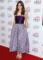 HOLLYWOOD, LOS ANGELES, CA, USA - NOVEMBER 11: Actress Hailee Steinfeld arrives at the AFI FEST 2014 - 'The Homesman' Gala Screening held at the Dolby Theatre on November 11, 2014 in Hollywood, Los Angeles, California, United States. (Photo by Xavier Collin/Celebrity Monitor)