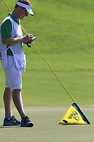 Ross Fisher (ENG) caddy Mark Sherwood on the 15th green during Friday's Round 2 of the 2017 PGA Championship held at Quail Hollow Golf Club, Charlotte, North Carolina, USA. 11th August 2017.<br /> Picture: Eoin Clarke | Golffile<br /> <br /> <br /> All photos usage must carry mandatory copyright credit (&copy; Golffile | Eoin Clarke)
