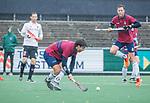 AMSTELVEEN - Wisse Schapers (HCKZ)tijdens de hoofdklasse competitiewedstrijd mannen, Amsterdam-HCKC (1-0).  COPYRIGHT KOEN SUYK