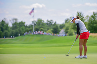 Marina Alex (USA) watches her putt on 1 during Sunday's final round of the 72nd U.S. Women's Open Championship, at Trump National Golf Club, Bedminster, New Jersey. 7/16/2017.<br /> Picture: Golffile | Ken Murray<br /> <br /> <br /> All photo usage must carry mandatory copyright credit (&copy; Golffile | Ken Murray)