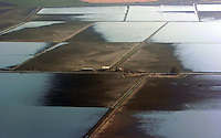 The Upper Jones Tract  begins to emerge as pumping continues. This picture was shot from an airplane Oct 13, 2004.( Photo by Alan Greth)