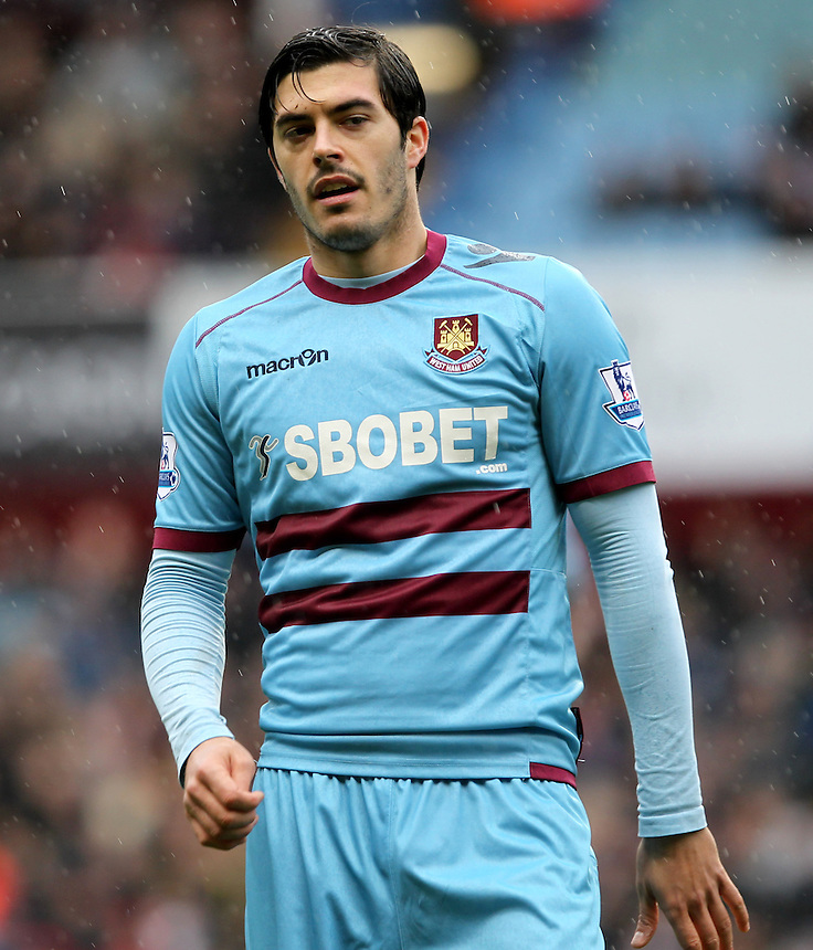 West Ham United's James Tomkins ..Football - Barclays Premiership - Aston Villa v West Ham United - Sunday 10th February 2013 - Villa Park - Birmingham..