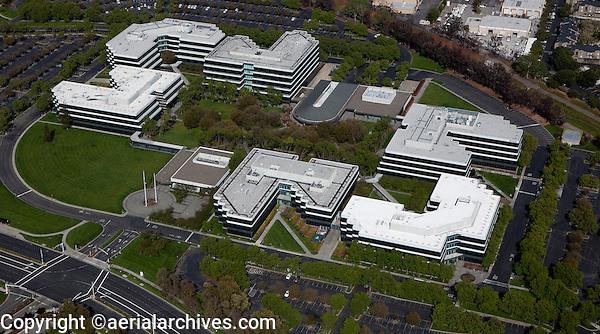 aerial photograph Hacienda Business Park, Pleasanton, Alameda County, California