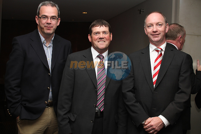 John Cunningham, Gowan Distributors, Mick Holcroft, Holcroft Motors and Greg Ronayne, Gowan Distributors at the Drogheda Motor Show Launch Night in the d Hotel...Picture Jenny Matthews/Newsfile.ie