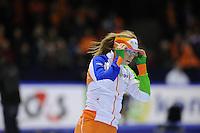SCHAATSEN: HEERENVEEN: Thialf, Essent ISU World Cup, 02-03-2012, 500m Ladies, Annette Gerritsen (NED), ©foto: Martin de Jong