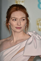 Eleanor Tomlinson<br /> The EE British Academy Film Awards 2019 held at The Royal Albert Hall, London, England, UK on February 10, 2019.<br /> CAP/PL<br /> ©Phil Loftus/Capital Pictures