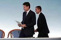 Luigi Di Maio e Giuseppe Conte<br /> Roma 15/10/2018. Consiglio dei Ministri sulla Manovra Economica DEF.<br /> Rome October 15th 2018. Minister's Cabinet about the Economic and Financial Document.<br /> Foto Samantha Zucchi Insidefoto