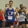 Nick Crociata of Hauppauge stays ahead of his competition during the boys 600 meter run in the Suffolk County winter track and field state qualifiers at Suffolk Community College Grant Campus in Brentwood on Monday, Feb. 12, 2018. He won with a time of 1:22.39.