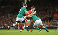 Wales Hallam Amos is tackled by Ireland's Dave Kilcoyne<br /> <br /> Photographer Ian Cook/CameraSport<br /> <br /> 2019 Under Armour Summer Series - Wales v Ireland - Saturday 31st August 2019 - Principality Stadium - Cardifff<br /> <br /> World Copyright © 2019 CameraSport. All rights reserved. 43 Linden Ave. Countesthorpe. Leicester. England. LE8 5PG - Tel: +44 (0) 116 277 4147 - admin@camerasport.com - www.camerasport.com