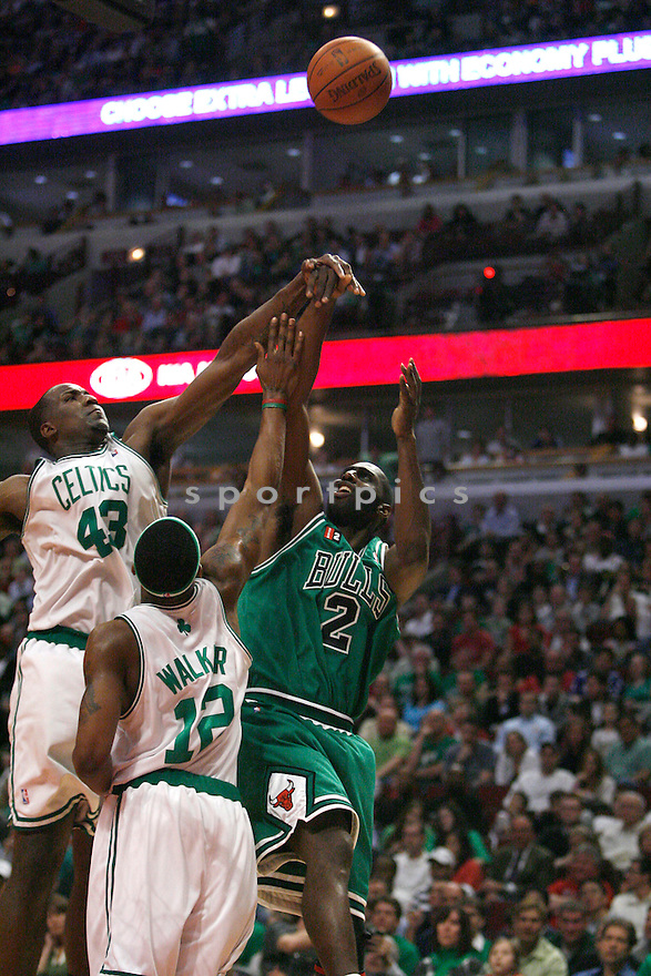 # 2 TIM THOMAS , of Chicago Bulls in action during the Bull game against the Boston Celtic   at the United Center on March 17, 2009  in Chicago.  The Bulls win 127-121